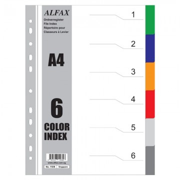 ALFAX 1106 PP Divider 6 Colours A4