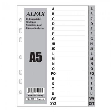 ALFAX 116 PP Grey Divider A-Z A5S