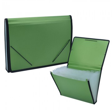 ALFAX 803 Expanding File 13 Dividers A4 Green