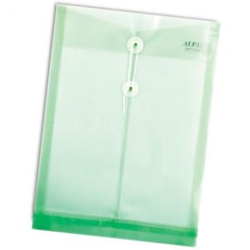 ALFAX PE118 Plastic String Envelope A4 Green