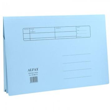 ALFAX 102 Paper Pocket File Blue