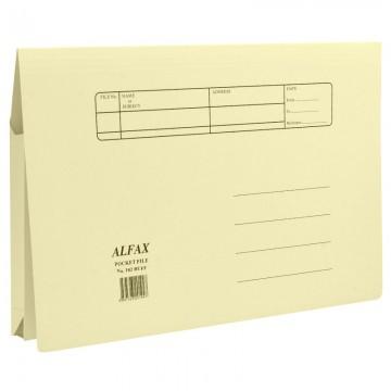 ALFAX 102 Paper Pocket File Buff