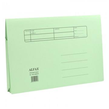 ALFAX 102 Paper Pocket File Green