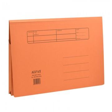 ALFAX 102 Paper Pocket File Orange