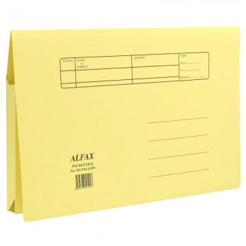 ALFAX 102 Paper Pocket File Yellow