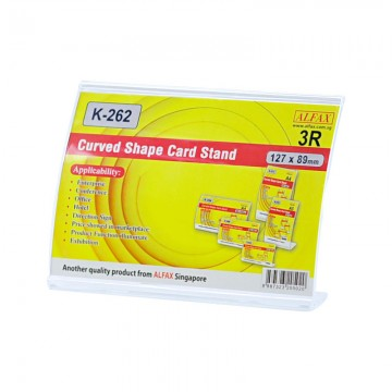 ALFAX K262H Curved Shape Card Stand 89x127mm 3R