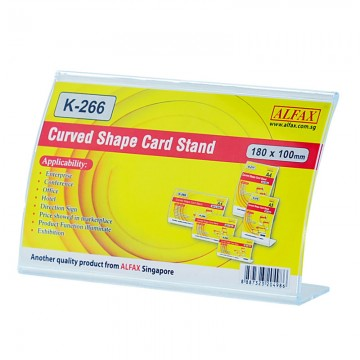 ALFAX K266H Curved Shape Card Stand 100x180mm