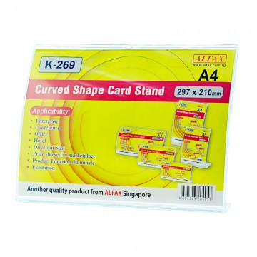 ALFAX K269H Curved Shape Card Stand 210x297mm A4
