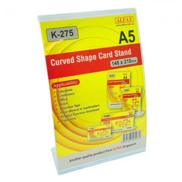 ALFAX K275V Curved Shape Card Stand 148x210mm A5