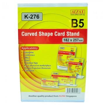 ALFAX K276V Curved Shape Card Stand 257x182mm B5