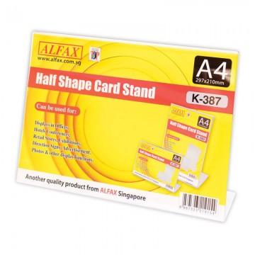 ALFAX K387 Horizontal Card Stand A4