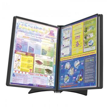 HD-DESIGN 75540 Table Unit 5 Pockets A4 Black