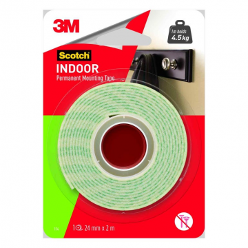 3M 114-2M Mounting Tape 24mm x 2m