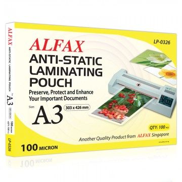 ALFAX LP0326 Anti-Static Laminating Film 100mic A3 100's