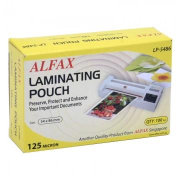 ALFAX LP5486 Laminating Film 125mic 54x86mm 100's