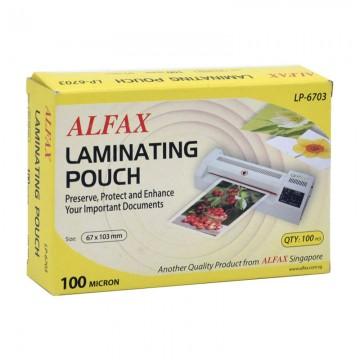 ALFAX LP6703 Laminating Film 100mic  67x103mm 100's