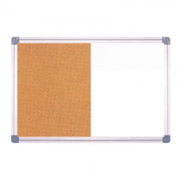 ALFAX 07990120 Whiteboard with Cork Board 90x120cm