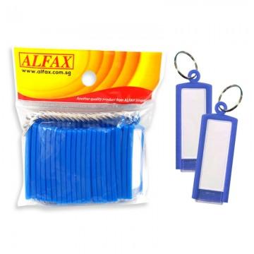 ALFAX  KT331 Key Tag Straight Edge 6cm 20's Blue