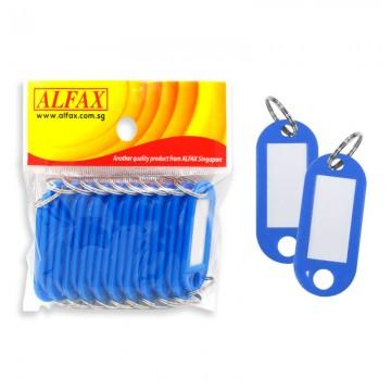 ALFAX  KT332 Key Tag Round Edge 5cm 20's Blue