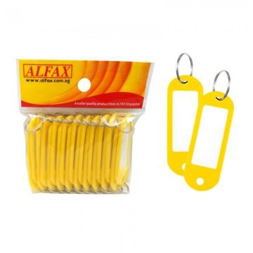 ALFAX  KT333 Key Tag Round Edge 6cm 20's Yellow