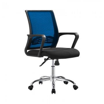 LJ22A Mesh Office Chair Black+Blue