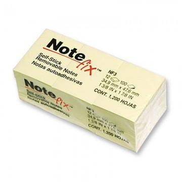 """3M NF3YE Notefix 1.5""""x2"""" 12's Yellow"""