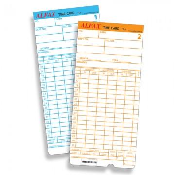 ALFAX TCA Time Card 100's TD,TA