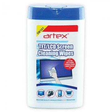 ARTEX SW101 TFT/LCD Screen Cleaning Wipes 100's