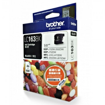 BROTHER Ink Cart LC163 Black -(600pages)