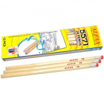 ALFAX 5571 Wooden Pencil 2B with Eraser