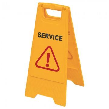 """Floor Sign """"SERVICE"""" AF03051 Orange 610x300mm"""