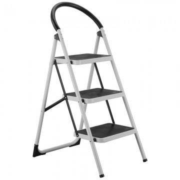 ALFAX 3 Step Metal Ladder Round Grip AL0503A