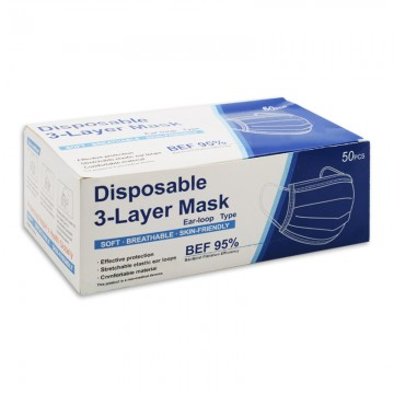 Disposable 3-Layer Mask 50's